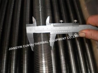 Solid OD31.8 Mm L/LL/KL Type Fin Tube , Overlapped LL Foot Soldered Fin Tube