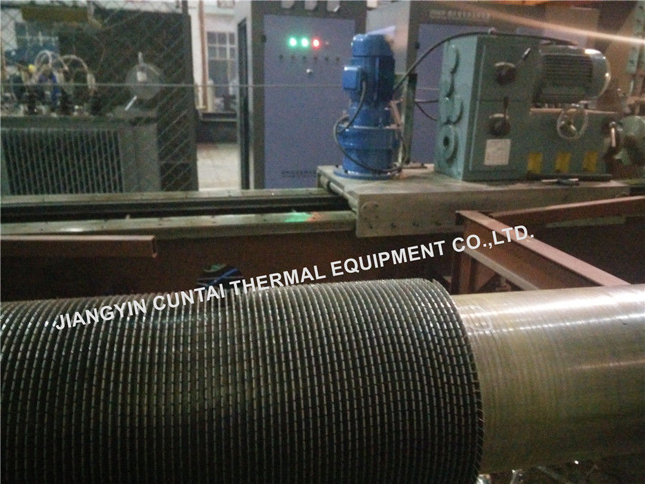 A106GrB OD219.1mm Carbon Steel Finned Tubes , Low Fin Tube Pipe Rolling