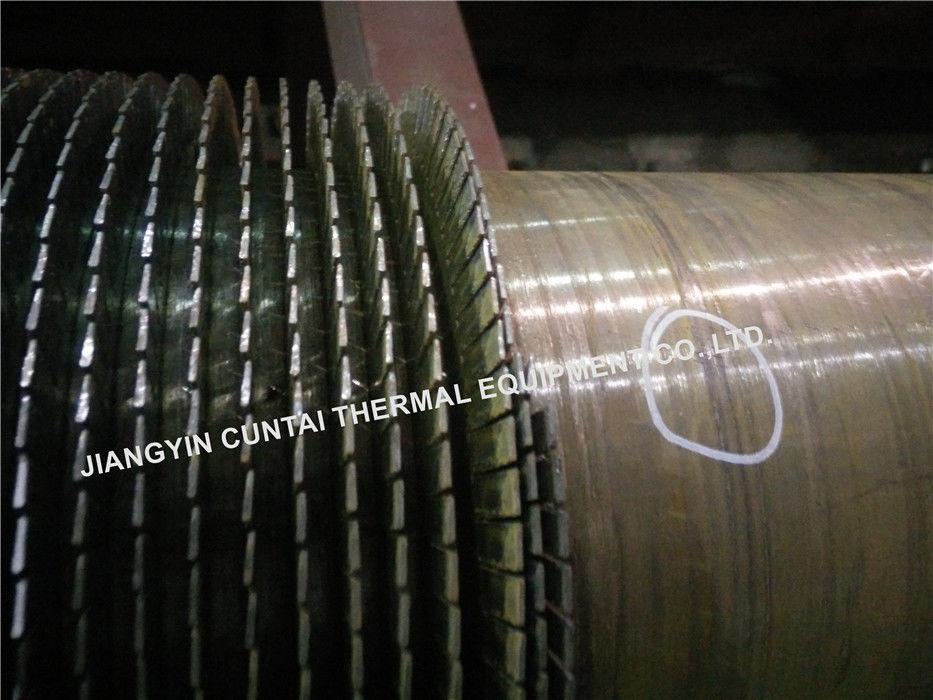 Economizers Spiral Finned Tubes A106GrB , Welded Heat Exchanger Fin Tubes